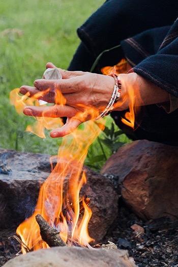 Kristall im Feuer
