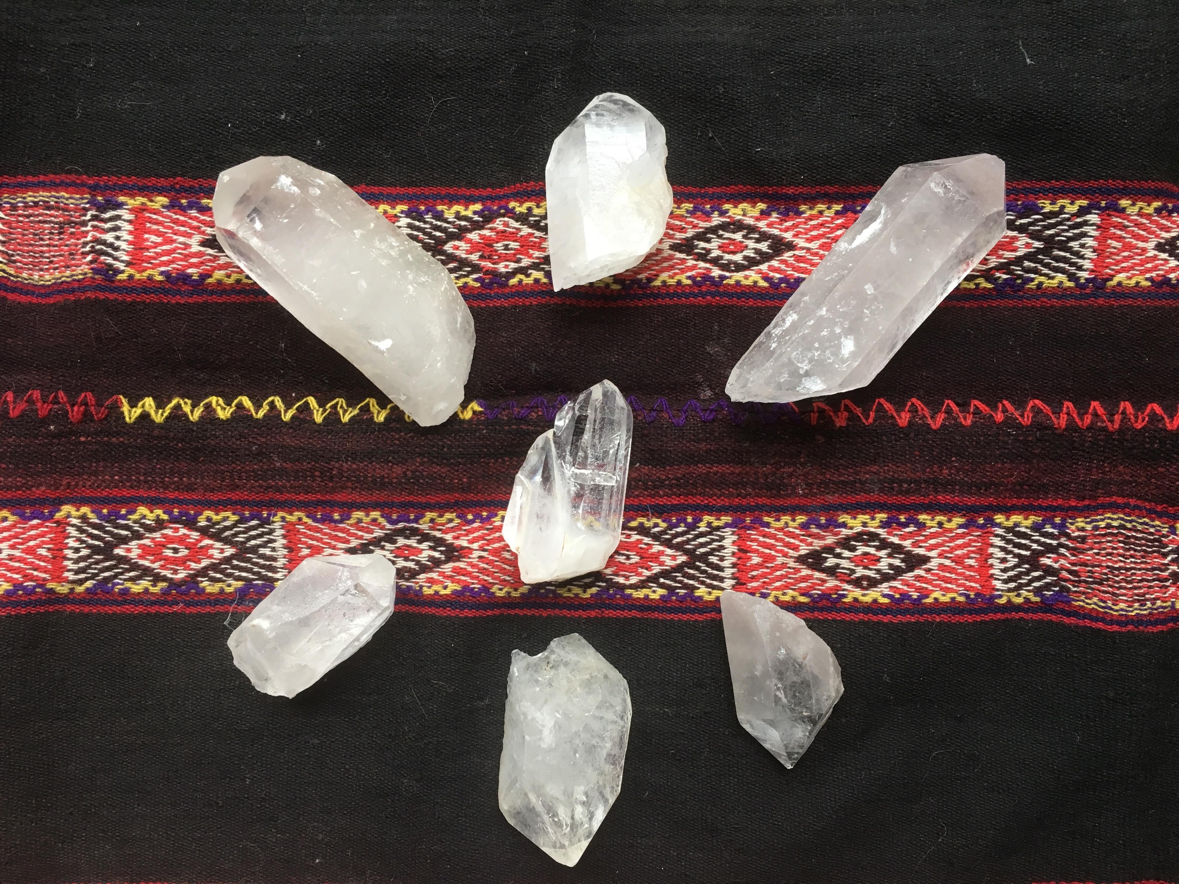 Zeremonie Kristalle